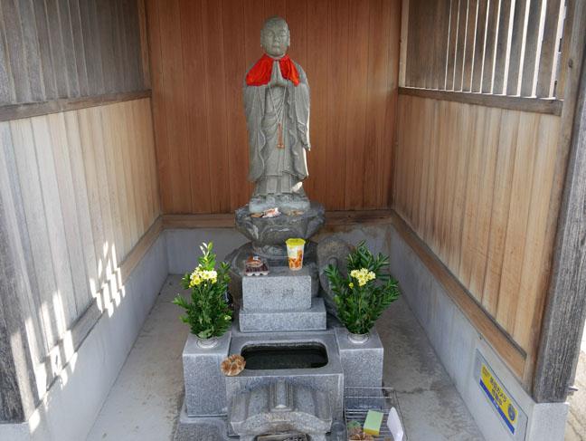 statue at Japanese shrine