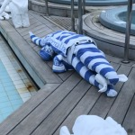 giant towel alligator