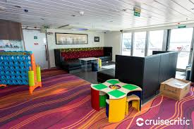 kids play area on Cunard cruise