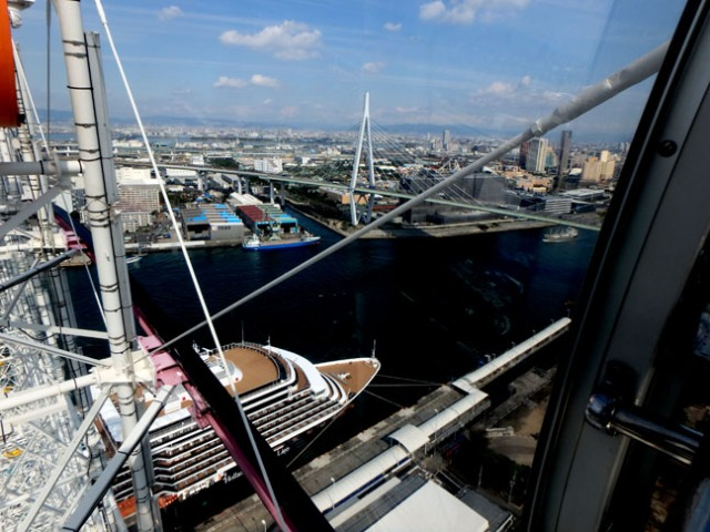 Osaka ferris wheel view