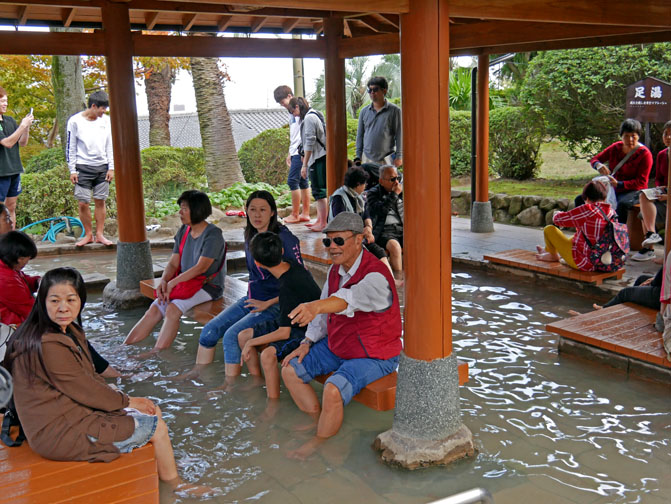 footbaths are popular at the hells of Beppu