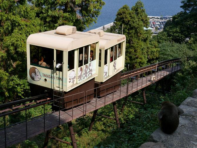 Beppu monkey park monorail