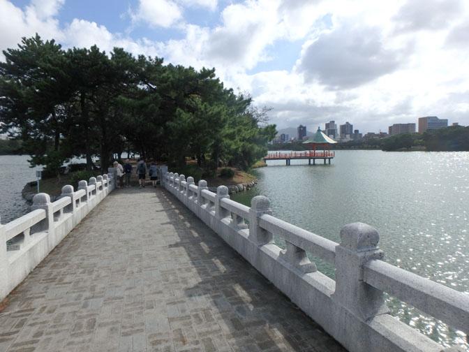 bridge at Ohori Park