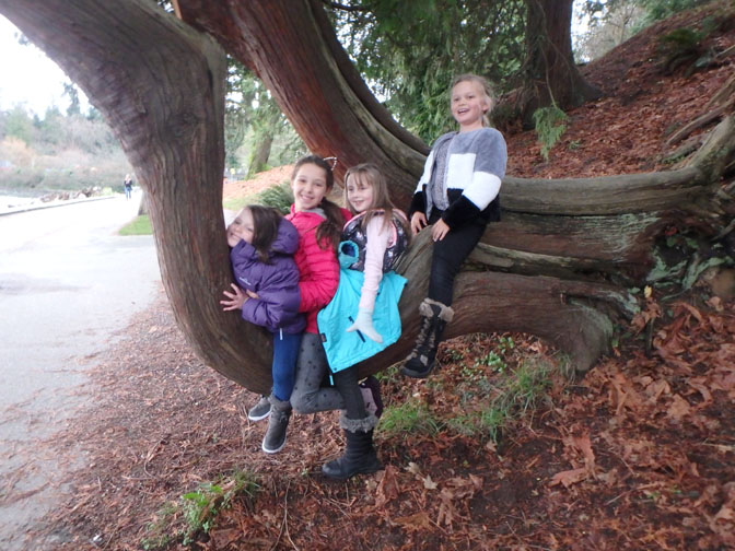 kids at Stanley Park