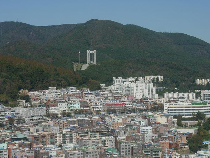 Korean war memorial in Busan, South Korea