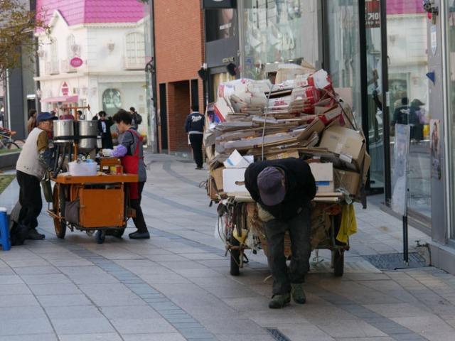 Busan street workers