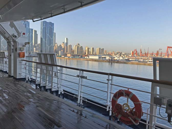 city view from Dalian cruise port