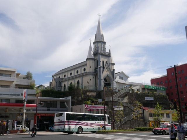 Miuramachi church in Sasebo, Japan